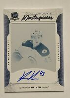 2016 17 UD THE CUP Danton Heinen AUTO PRINTING PRINT PLATE ROOKIE RC 1/1