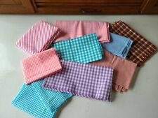 Vintage Cotton Checked Gingham Fabric Quilters Stock Pile Assorted Sizes
