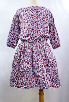 NWT Tea Collection Girls Running Wild Horses Dress Ruffle Hem Gray