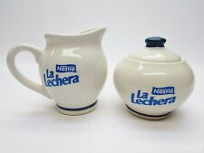 Nestle La Lechera Cream Pitcher & Sugar Container Set by MonHos Mexico VTG HTF