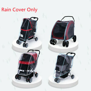 Outdoor Pet Cart Dog Cat Carrier Stroller Cover Puppy Cart Windproof Rain Cover