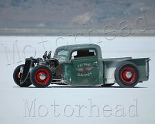 "Vintage ""Flying A Garage"" Ratrod 8x10 PHOTO Bonneville Salt Flats Mancave Decor"