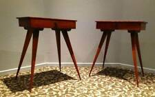 2 MID CENTURY MODERN TOOTHPICK TABLES Desk w/ Drawer Eames style Rare