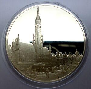 Belgium 1979 Commemorative Silver Proof Medal - Millennium of Brussels (T62)