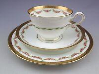 Vintage Adderley`s England Gold Gilt Cup Saucer Dessert Plate Trio Set