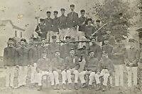 ORIGINAL- OCCUPATIONAL CABINET PHOTO (FIREMEN) c1899 P.F.D. (PHILADELPHIA ?)