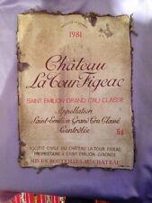 Etiquette De Vin Toile Canvas - Chateau La Tour Figeac Saint Emilion
