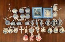 New ListingRare lot 34 Wedgwood Jasperware Christmas Holiday Ornaments Perfect!