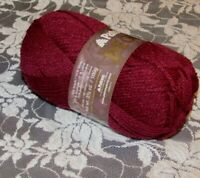 NEW PATONS DECOR Burgundy Red Yarn 100 g Acrylic Wool Made in Canada 1647 244016