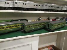 LIONEL POSTWAR SET of  #2400/01/02 GREEN PASSENGER CARS