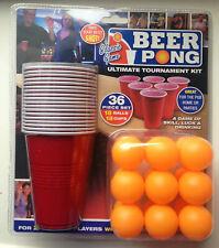 BEER PONG DRINKING GAME SET 36 pcs Cups Balls Party Pub Ping Men Fun Kit Gift