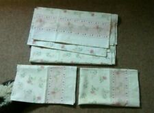Vintage Floral Single Flat Sheet And Pillow Cases
