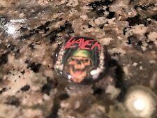 Slayer Button! Metallica Megadeth Iron Maiden Anthrax Exodus Overkill Dio Ozzy
