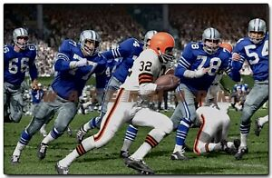 Jim Brown Cleveland Browns vs. Dallas Cowboys ULTRA RARE  PRINT (4 sizes)