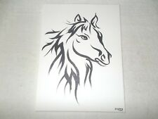Canvas Painting Horse Painted Sketch B&W Art 16x12 inch Acrylic