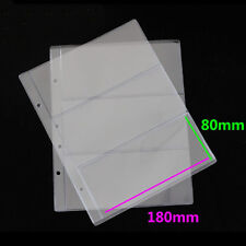 10pcs Clear Pages Pockets Coin Holders Storage Banknotes Money Album Display  LP