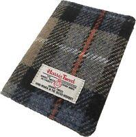 New Harris Tweed Passport Holder Wallet Id Travel / Bus Tartan Gift Pouch