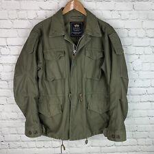 Men's Alpha Industries (S) Green M65 Unlined Military Field Jacket/Coat