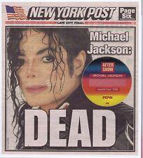 Michael Jackson New York Post June 26 2009 Cover w/ World Tour '88 Pass