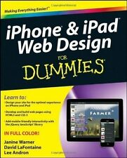 iPhone & iPad Web Design For Dummies By Janine Warner, NEW