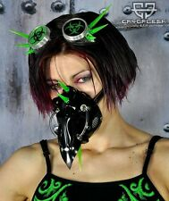 Cryoflesh Doctor Plague Cyber Goth Burning Man Rave UV Reactive Gas Mask