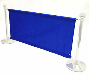 BANNERS ONLY, 1.4 meter blue banners for our cafe barrier systems, cafe banners