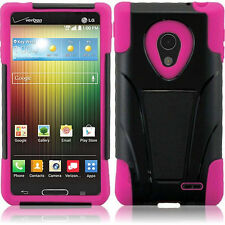 For LG Lucid 3 III VS876 AS876 T-Stand Hybrid Armor Cover Phone Case Accessory