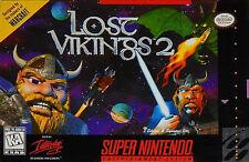 LOST VIKINGS 2 SNES SUPER NINTENDO GAME COSMETIC WEAR