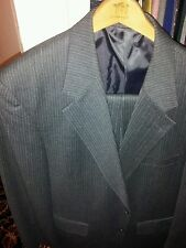 Evan Picone men's size 40 suit gray pinstripe Cashmere Blend Inseam 30