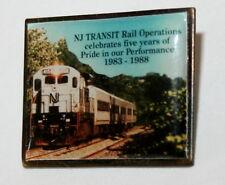 2 New Jersey NJ Transit 5th Ann Rail Operations 1983-1988 Lapel Hat Pin New NOS