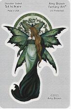ELEGANCE FAERY Fairy Sticker Car Decal Amy Brown goth gothic green pagan faerie