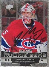Montreal Canadiens Robert Mayer Signed 12/13 Black Diamond Rookie Card Auto