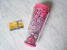Starbucks Cherry Blossom Floating Sakura Pink Floral Flower Tumbler Cup Mug *NEW