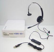 Plantronics HW111N-USB-M Mono-Auricolare Nero Archetto Cuffia For Microsoft Moc