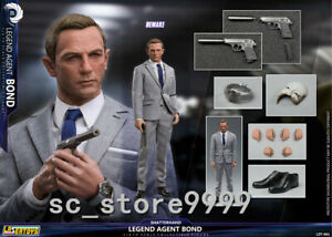 "James Bond 1:6 Scale LAZERTOYS LZT-001 Legendary Agent 007 12""Male Figure"