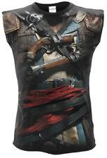 SPIRAL ASSASSINS CREED IV BLACK FLAG Allover Licensed Sleeveless T-Shirt/Top/Tee