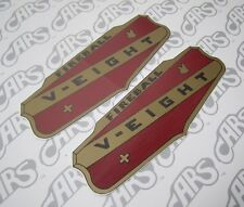 1953 - 1956 Buick V8 Valve Cover Decals | Pair | D12