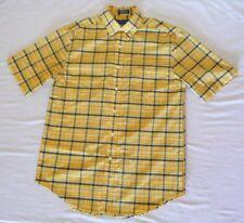 Towncraft Men's Button Down Plaid Wrinkle Free Shirt Size S, Yellow & Blue, EUC
