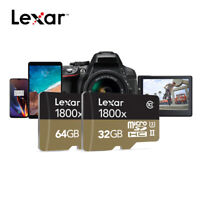 New! Lexar Professional 32GB 64GB 1800x SDXC UHS-I Micro SD Card A2 U3 V30 C10