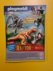 PLAYMOBIL  Mega Play Limited Edition   RAPTOR MIT BEUTE  + Spinne & Skorpion
