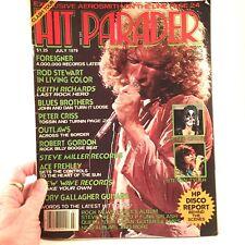 Hit Parader Magazine July 1979 Aerosmith Foreigner Rod Stewart  Frehley Criss