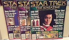 Star Trek Magazines Set of Three 2000/2001 Takei Tuvok Weyoun Techie Briefings