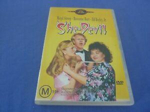 She-Devil DVD Meryl Streep Roseanne Barr Ed Begley Jr R4 Free Tracked