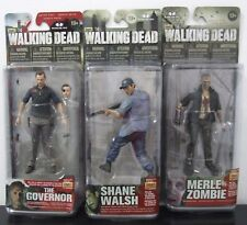 MCFARLANE TOYS THE WALKING DEAD SERIES 4 & 5 LOT SHANE WALSH-MERLE-THE GOVERNOR