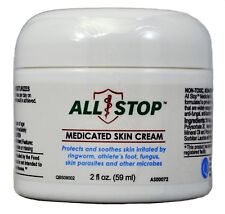 Athlete's Foot,Ringworm,Scabies,Parasites Medicated Skin Cream by AllStop - 2oz
