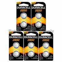 10 x 2032 Duracell Coin Cell Batteries - Lithium 3V - (CR2032, DL2032, ECR2032)