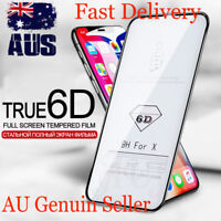 6D Curved HD Clear Tempered Glass Screen Protector For Apple iPhone X XS Max XR