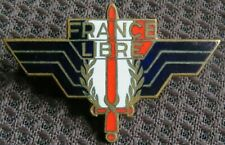 French WWII ' France Libre ' Enamel Badge.