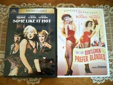 Lot of 2 Dvds Gentlemen Prefer Blondes, Some Like It Hot - Marilyn Monroe