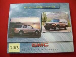 FACTORY 1998 GMC MEDIA INFORMATION KIT PRESS RELEASE ALL MODELS & 1999 DENALI